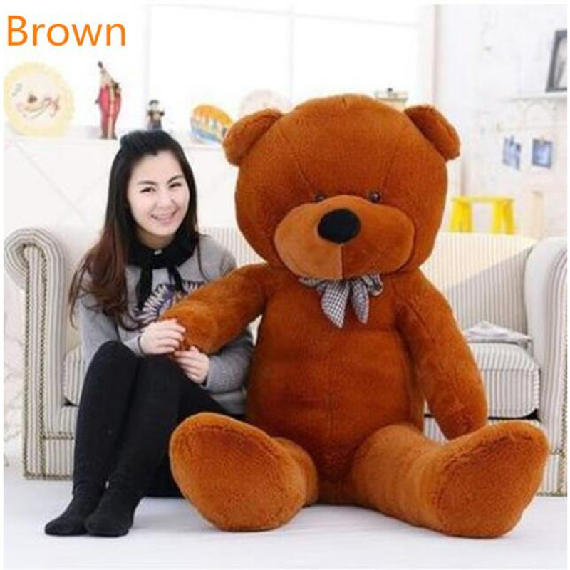 2016 New Kawaii 160cm Big SizeTeddy Bear Plush Soft Toys Kids Toys Stuffed Animals Ted Dolls Best Gifts for Child ty collection beanie boos kids plush toys big eyes slick brown fox lovely children gifts kawaii stuffed animals dolls cute toys