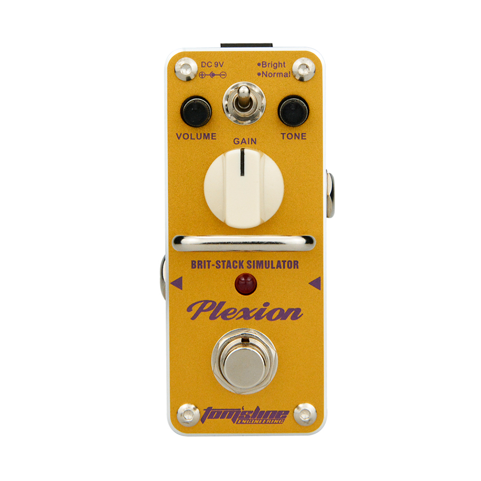 AROMA APN-3 Plexion Brit-stack Simulator Electric Guitar Effect Pedal Mini Single Effect with True Bypass Guitarra Effect Pedal amo 3 mario bit crusher electric guitar effect pedal aroma mini digital pedals full metal shell with true bypass