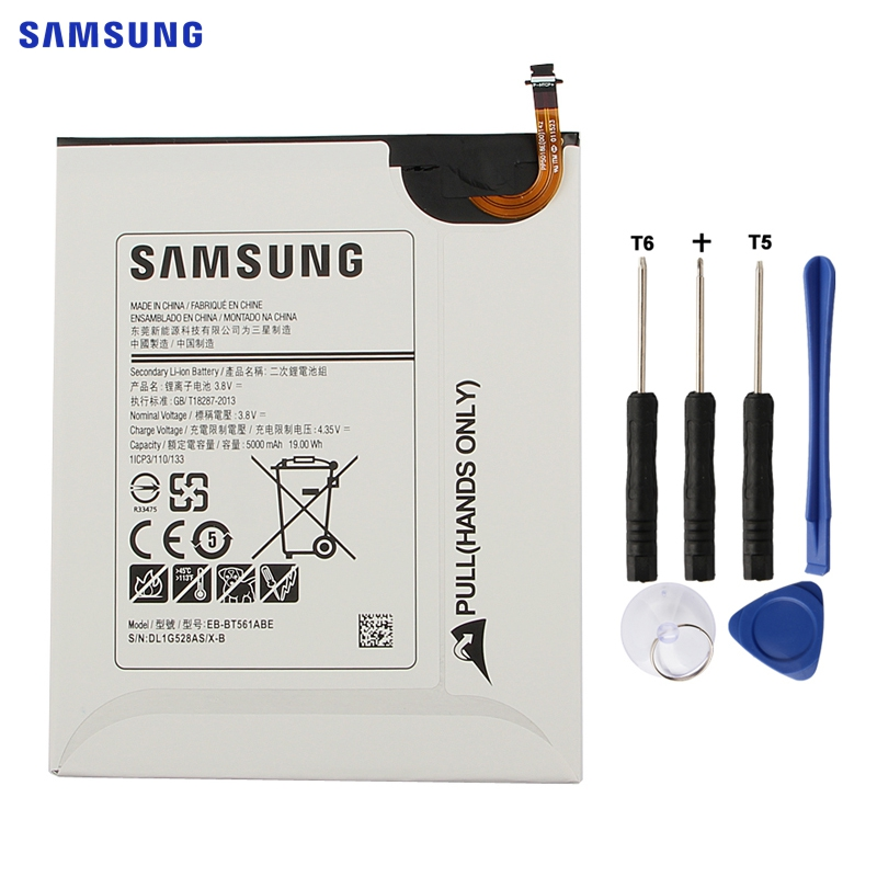 eb bt561abe - SAMSUNG Original Replacement Battery EB-BT561ABE For Samsung GALAXY Tab E T560 T561 SM-T560 Authentic Tablet Battery 5000mAh
