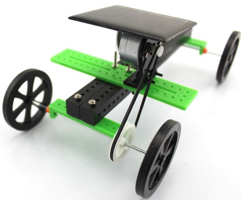 Solar Toys Science And Technology Four Wheel  Small Production Solar Energy Toy Car Diy Car Educational Toys Assembled Model