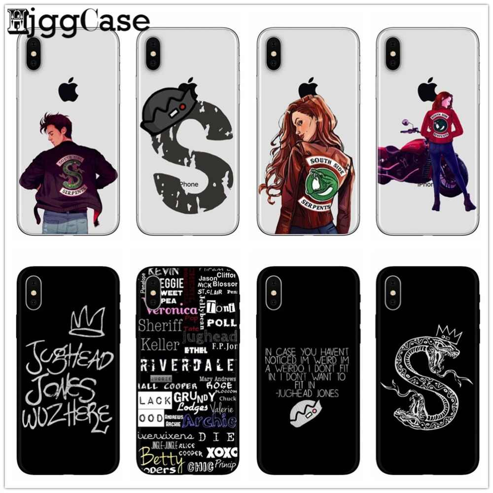 American TV Riverdale Southside Serpent Phone Case For iphone X 8 7 6 6S Plus 5 5S SE TPU Soft Silicone Back Cover For iphone 6