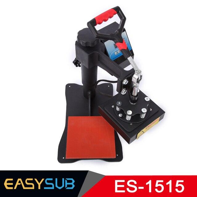 CE certificación alta presión 15x15 CM camiseta máquina de prensa de calor transferencia de sublimación para bolsa funda de vidrio puzle madera foto de Rock