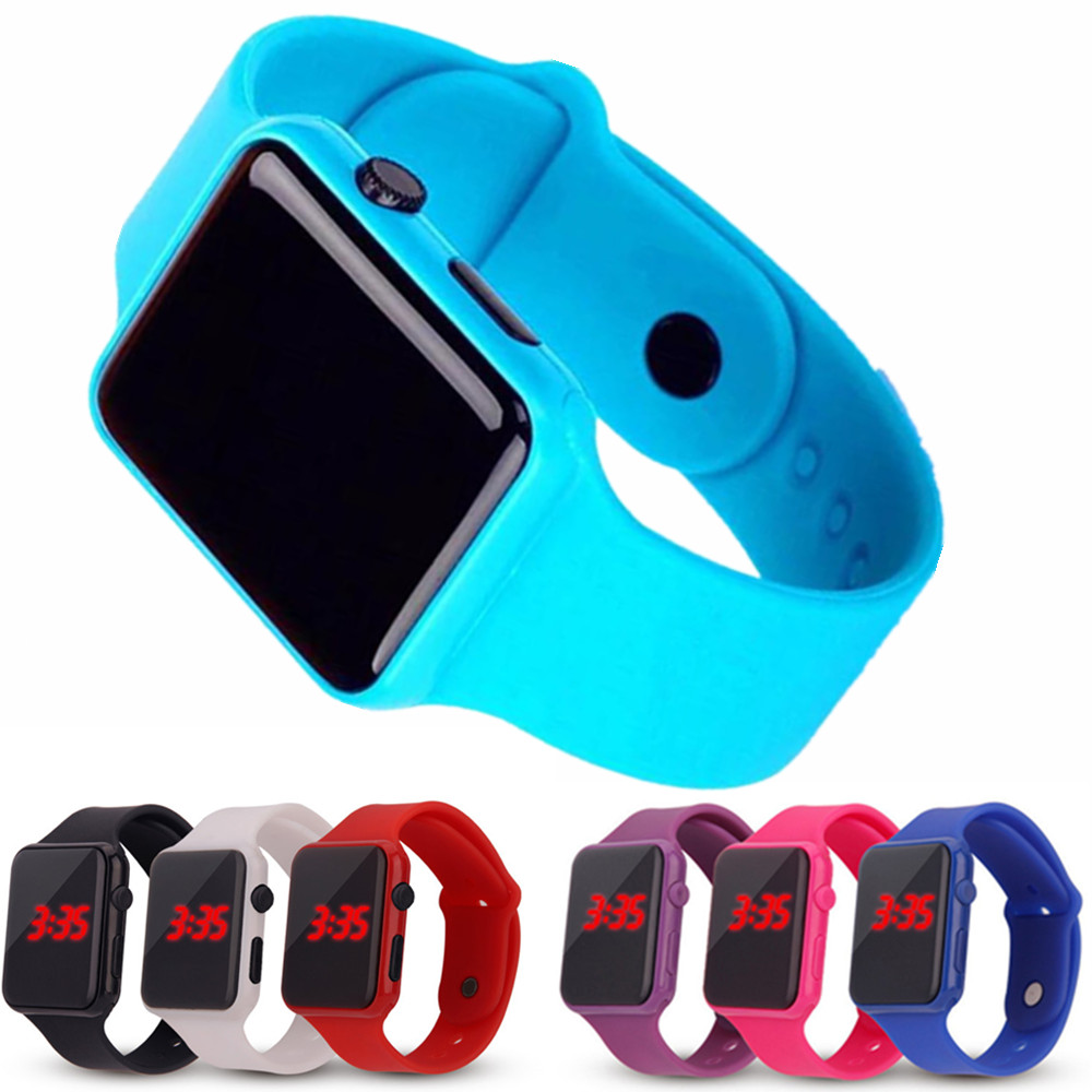 Sport Watches Wristwatch-Watch Clock Digital Electronic Children Boy Girl LED Student