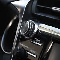 5 шт., черный Автомобильный кондиционер + аудио + функциональная кнопка, круглая Накладка для Toyota Camry 2018, высокое качество, молдинги для стайли...