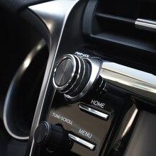 5 nero Aria Condizionata + Audio + Funzione di Tasto Cerchio di Assetto Per Toyota Camry 2018