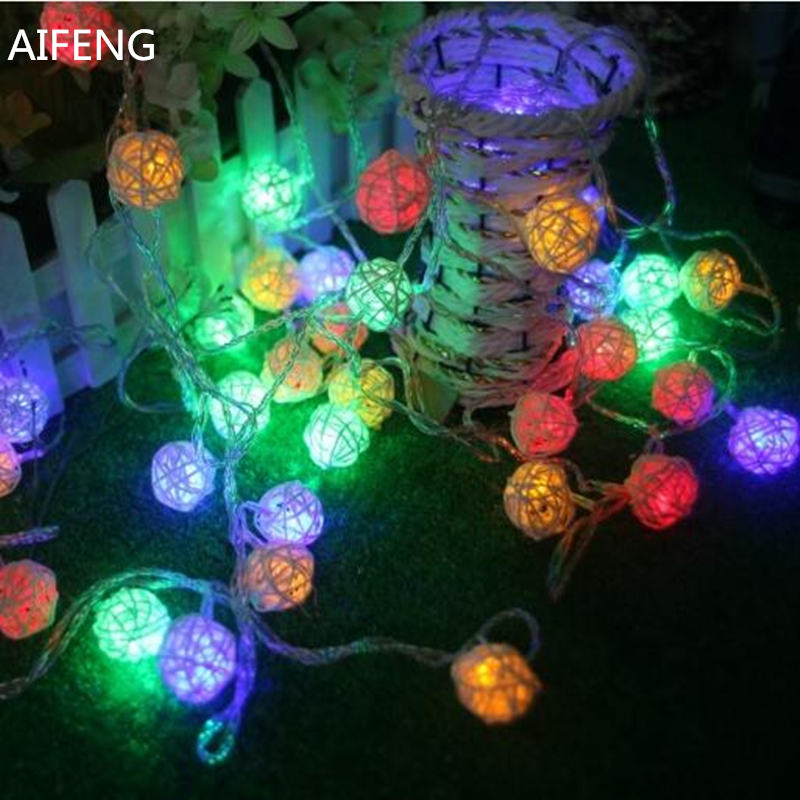 AIFENG 10M 394inch 38led Rattan Ball Led String Light Outdoor Decoration Fairy Lights Holiday Christmas Party Decorative Lights фигурка argentina lionel messi
