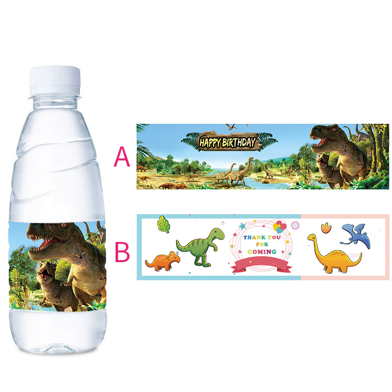 Hot Sale Children Kids Dino Dinosaur Cartoon Water Bottle Labels
