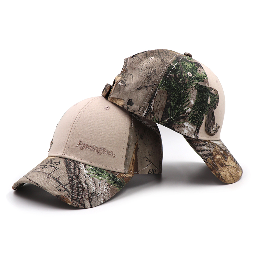 Remington Outdoor Fishing Cap Jungle Baseball Caps Hunting Hat Bionic Breathable Cotton Camouflage Men Women Dad Snapback Hats