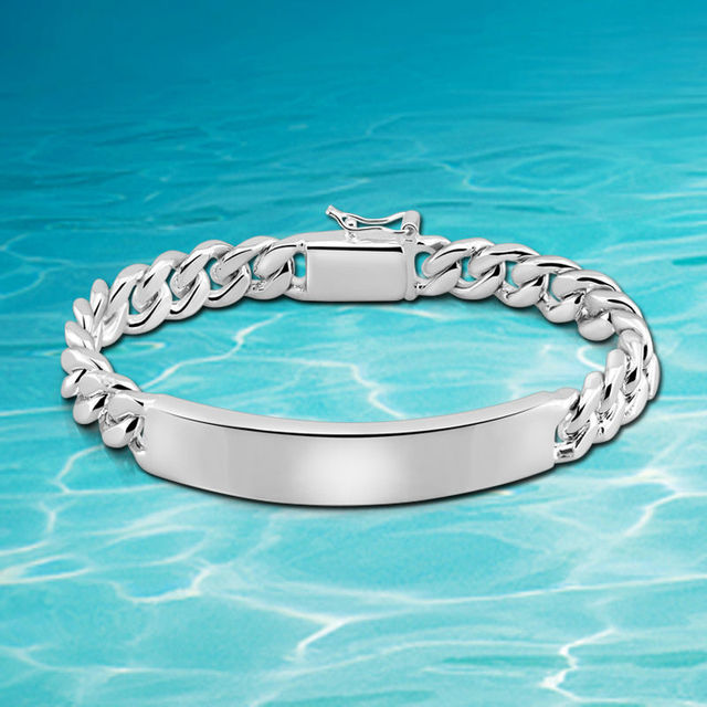 15cd07532 Hot European and American punk pure male models bracelet free shipping 925  sterling silver men's bracelet