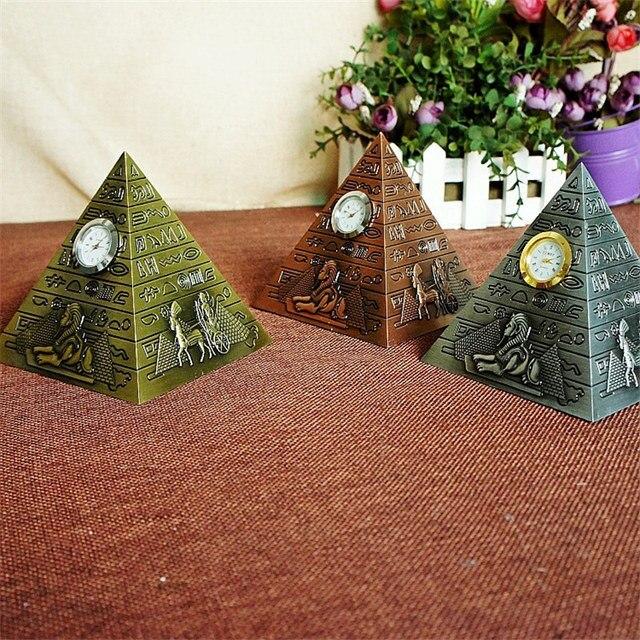 New Design Egypt Pyramid Model Figurines Metal Creativity Pyramid