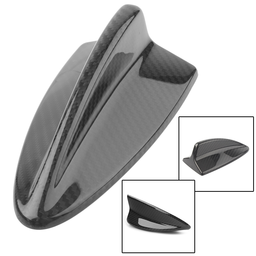 Auto Shark Fin Antenne Dekoration Abdeckung Cap Trim Für <font><b>BMW</b></font> E90 E46 E92 M3 <font><b>E60</b></font> E61 Carbon Faser Styling ABS image