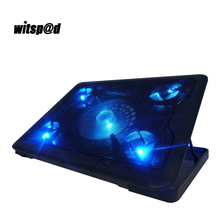 """Witsp@d 11.6""""-17"""" Pocket book Stand Cooling Pad for Laptop computer Cooling Pad Fan Cooling Stand with 5 Blue LED Followers"""