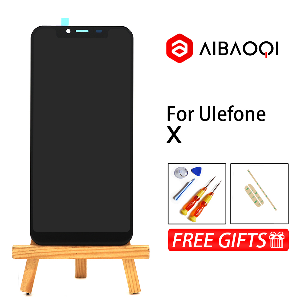AiBaoQi New Original 5 85 inch Touch Screen 1512x720 LCD Display Assembly Replacement For Ulefone X