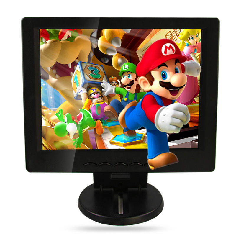ФОТО 12 inch / 12.1 inch lcd monitor vga hdmi av tv usb interface plastic shell non-touch industrial and household use