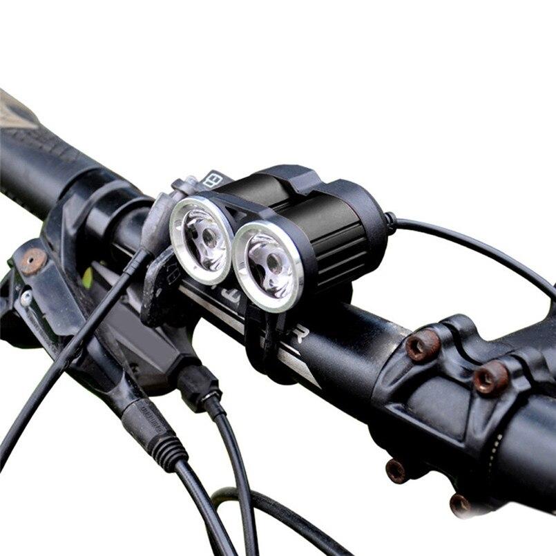 Wahre 2000LM 2 X XM-L T6 LED USB Wasserdichte Lampe Fahrrad Scheinwerfer Neue ankunft 2017 lichter Radfahren