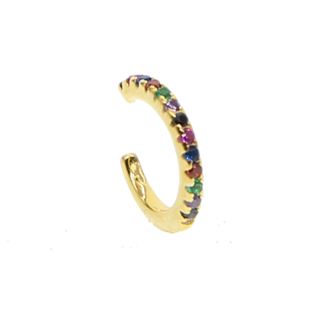 Rainbow Clip-On Cuff Earring