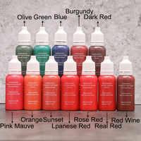 8 Piece Tattoo Ink 15ml/Bottle Permanent Lip Eyebrow Micro Makeup Body Art 1/2oz Paint Beauty Free Shipping