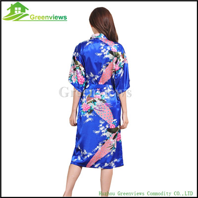 Bademantel Frauen Satin Brautjungfer Robes Vintage Kimono Gedruckte ...