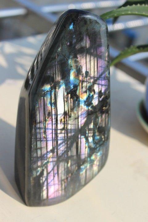 Xd J00832 Natural Rare Purple Labradorite Crystal Rough Polished Madagascar