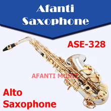 Afanti Music Eb tone / Nickel Alloy Cooper / Gold finish Alto Saxophone (ASE-328)