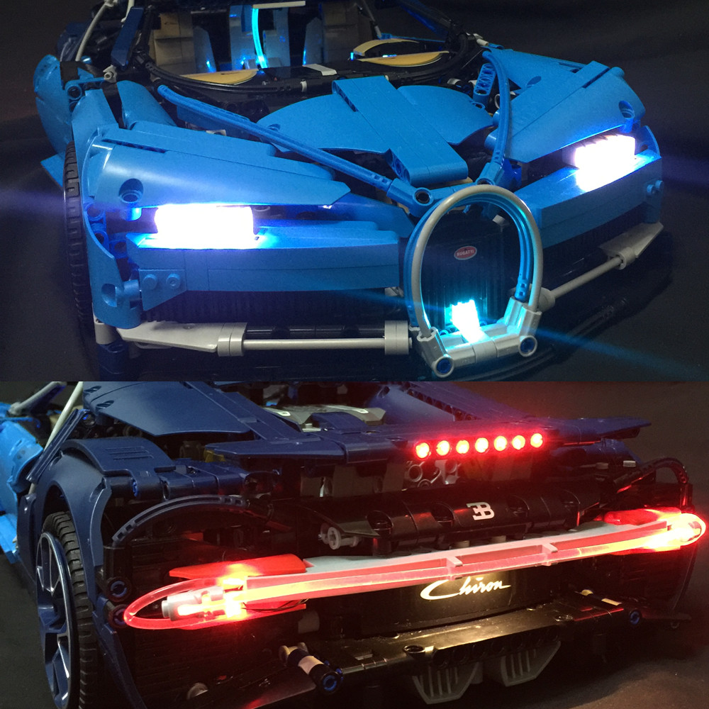 LED Light Kit For lego Technic Bugatti Chiron Advanced Light Set Compatible With 42083 and 20086