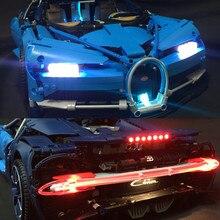 Светодио дный свет комплект для lego Technic Bugatti Хирон Расширенный свет набор совместим с 42083 и 20086