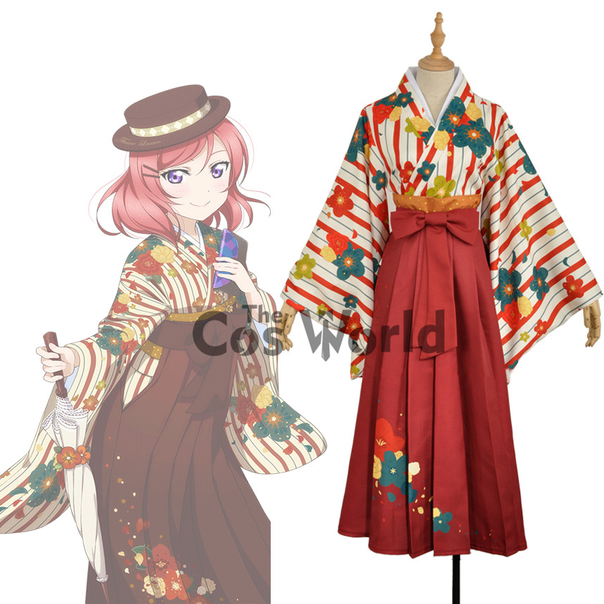 Здесь продается  LoveLive! Love Live Nishikino Maki Flower Tops Kimono Yukata Dress Uniform Outfit  Anime Cosplay Costumes  Одежда и аксессуары