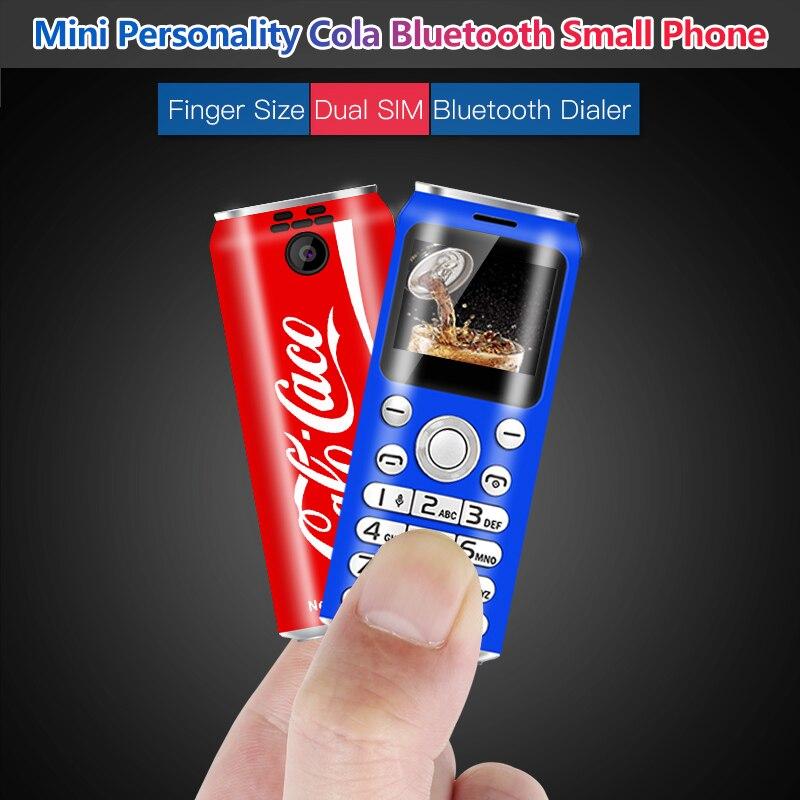 Super Mini lindo teléfono pequeño Bluetooth tarjeta Dual Sim Tamaño del dedo Bluetooth marcador MP3 grabación de llamadas teléfono móvil Voz Mágica Original UNIWA V9 + 3G SmartPhone MT6580M Quad Core Android 5,1 pantalla táctil Batería grande teléfono móvil 5,0
