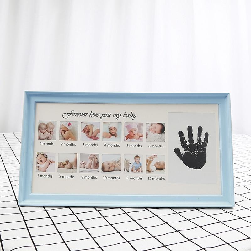 Marco bebé 1st cumpleaños marco bebé recién nacido Handprint huella ...