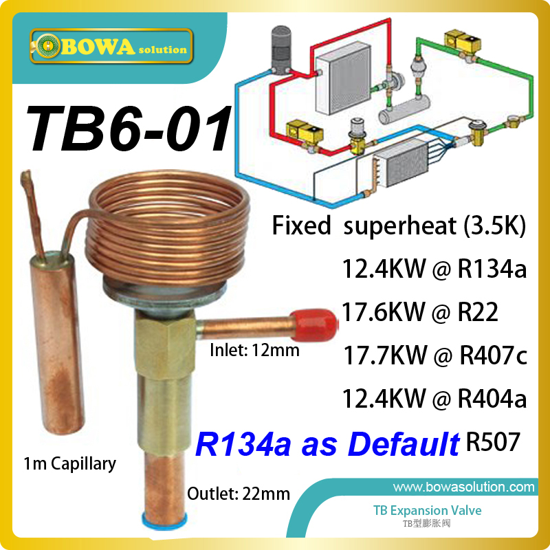 TB6-01 fixed super heat TEV designed for industrial coolant systems replace Danfoss TD expansion valve or Sporlan TEV nrf 6 thermal expansion valve tev or txv is preferred over other refrigeration metering devices and replace danfoss tg valves
