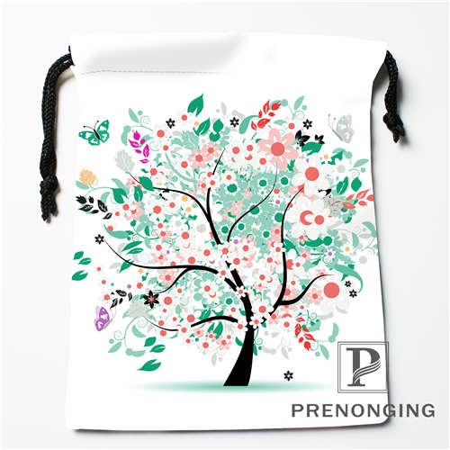 Custom Tree Life Printed Drawstring Bags Printing Fashion Travel Storage Mini Pouch Swim Hiking Toy Bag Size 18x22cm 171203-6-1