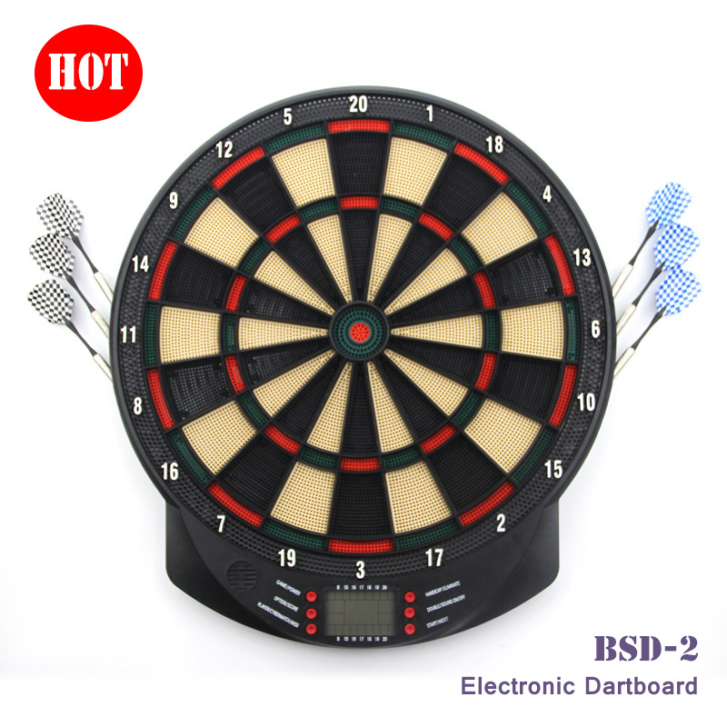 Newest Hot Sale 15in Indoor Abs Led Dartboard Electronic Dartboard With 6 Brass Darts Magnetic Dartboard