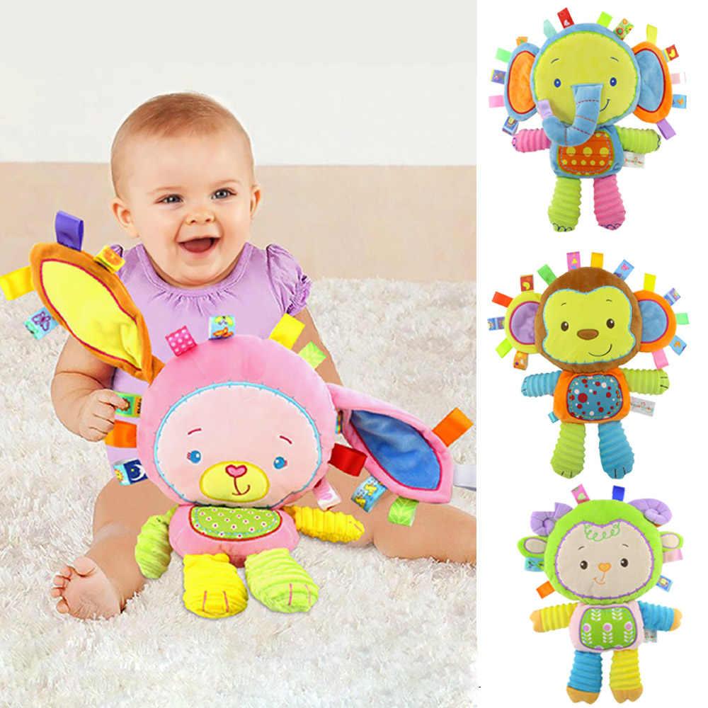 9 видов стилей для маленьких детей Плюшевые погремушки игрушки, куклы для младенцев колокольчики для новорожденных Слон/обезьяна/тапочки; тапочки с кроликом; шлёпанцы для Мягкий хлопок игрушка