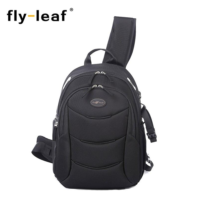 Flyleaf FL 338 Digital SLR camera bag male backpack bag waterproof professional large capacity camera bag anti theft bag in Camera Video Bags from Consumer Electronics