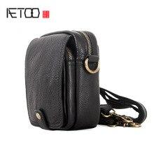 AETOO Mens Outdoor Leisure multifunctional cowhide shoulder crossbody bag wearing belt leather waist