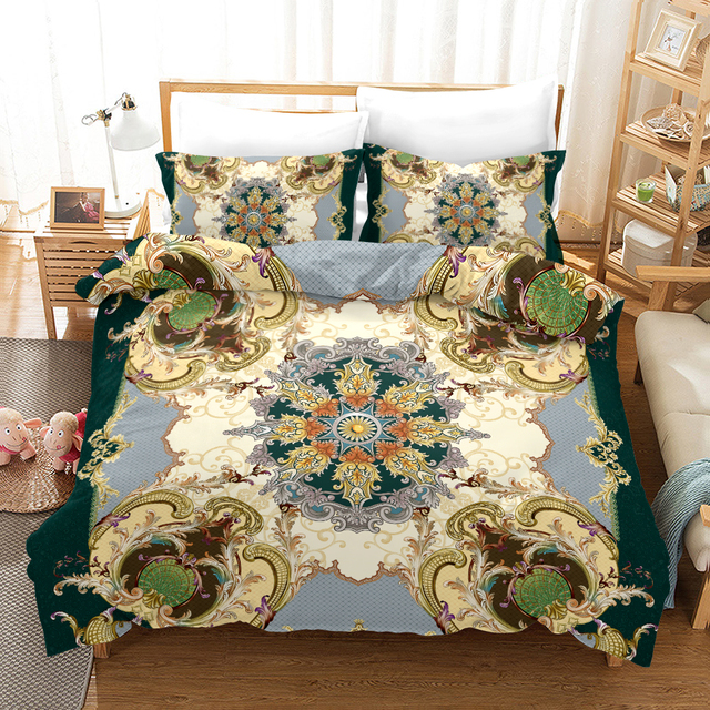 Fanaijia European style Bedding Se Luxury flower boho duvet Cover with Pillowcase bed set queen comforter sets