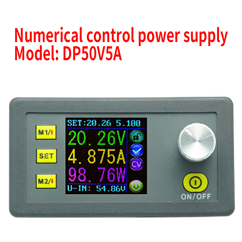 DP50V5A Digital Control DC Power Supply Adjustable Buck Module Integrated Voltmeter Ammeter Color Screen 50V 5A-in Integrated Circuits from Electronic Components & Supplies