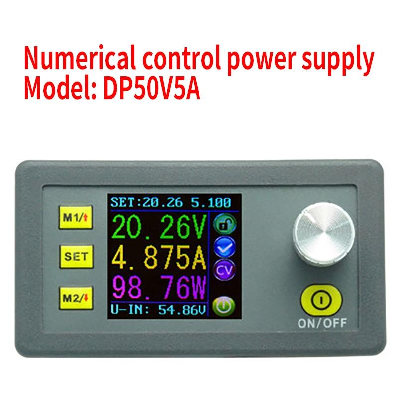 DP50V5A Digital Control DC Power Supply Adjustable Buck Module Integrated Voltmeter Ammeter Color Screen 50V 5A