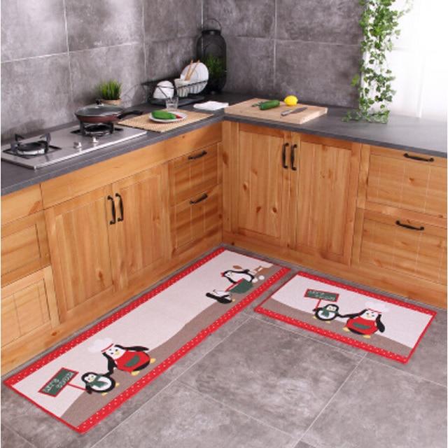 2 unids/set dibujos animados antideslizante piso Esterillas cocina ...