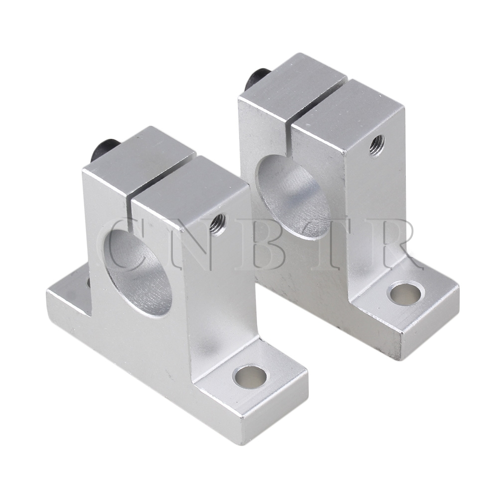 CNBTR SK-20 20mm CNC Aluminum Rail Linear Motion Shaft Guide Support Pack of 2