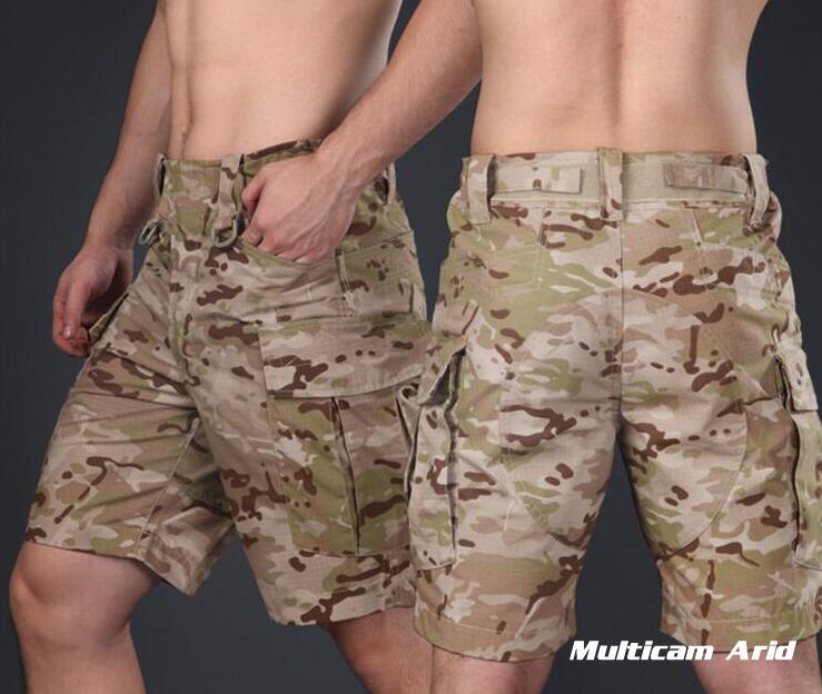 Warchief Multicam noir tropique militaire tactique Shorts Camouflage Cargo pantalon hommes Coyote marron loup gris (STG051132) - 2
