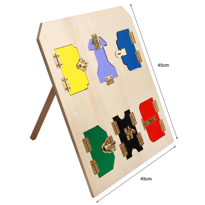 Jouets en bois Montessori pour enfants éducatifs Montessori serrure conseil exercices d'apprentissage précoce mathématiques jouet en bois UC0165H - 3