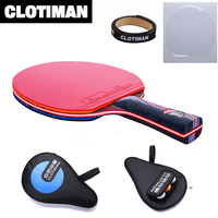 2017 New Design Carbon Fiber Table Tennis Racket 9 Layers Long Handle Tennis Table Racket