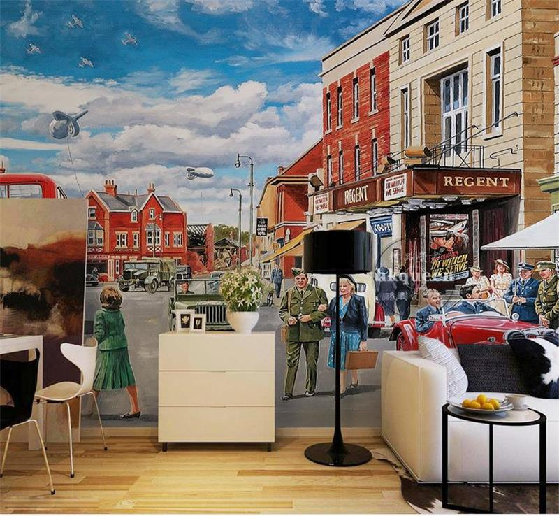 Custom photo 3d wallpaper Non-woven mural city streets Store Cars decoration painting 3d wall murals wallpaper for walls 3d 3d ceiling murals wallpaper custom photo non woven a pink rose 3d wall mural wallpaper for walls 3d room decoration painting