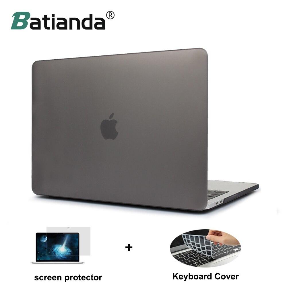 Matte Kristall Kunststoff Harte Fall Abdeckung für MacBook Pro 2016 2017 2018 Pro Retina 13 15 zoll A1706/A1707 mit/ohne Touch Bar