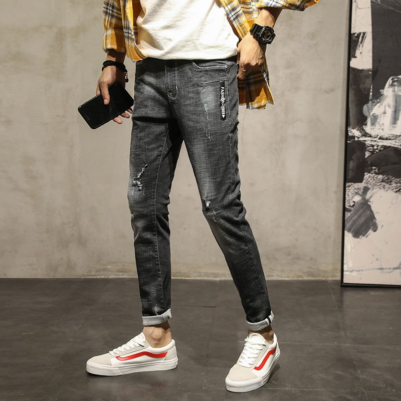 Mens Slim Fit jeans Men Skinny Stretch Jeans Trousers Male Super Elastic Casual Straight Denim Jeans