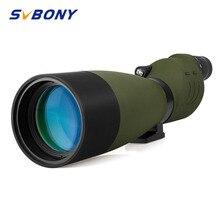 Svbony sv17 spotting scope 25 75x70mm zoom bak4 impermeável em linha reta 180 de para birdwatch telescópio f9326g