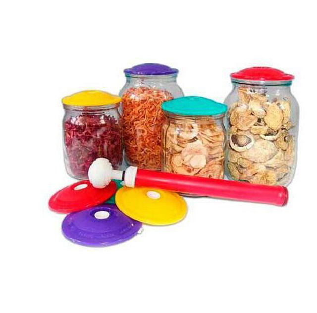 9 Covers  Per  Set  Vacuum Sealing Sealer Food Saving Storage Bags Keep Food Fresh Canning Set  Jar Sealers