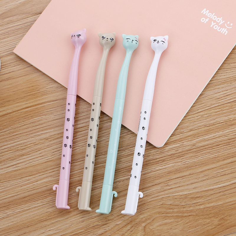 100 Pcs Creative Stationery Cute High Cat Neutral Pen Learn Stationery Cartoon  Quality Signature Pen Kawaii School Supplies-in Gel Pens from Office & School Supplies