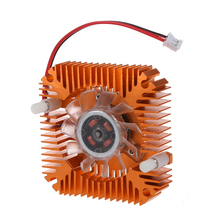 PC Computer Laptop CPU VGA Video Card 55mm Cooler Cooling Fan Heatsink centechia mini 55mm 2 pin graphics cards cooling fan aluminum gold heatsink cooler fit for pc computer cpu vga video card